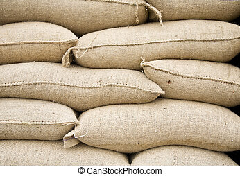 Cement bags - Stack of cement bags in Sunda Kelapa, Jakarta...