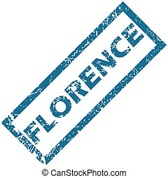 Florence rubber stamp - Blue rubber stamp with city name...