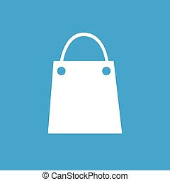 Shopping bag icon - Icon with image of shopping bag,...