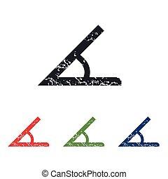 Angle grunge icon set - Colored grunge icon set with image...
