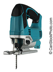 jig saw - new professional jig saw on a white background