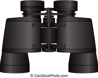 binoculars on a white background Vector illustration