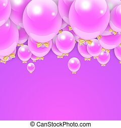 Party Balloons Background for your Text. Stock Vector Illustration.