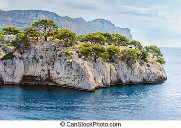 Calanque, France - Calanque between Marseille and Cassis,...