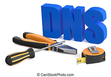 DNS concept isolated on white background
