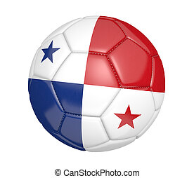 Soccer ball with Panama flag - Soccer ball, or football,...