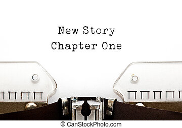 New Story Chapter One Typewriter - New Story Chapter One...