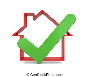 Home inspection. Success metaphor - Image contain the...