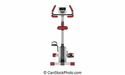 Exercise bike spin on white background
