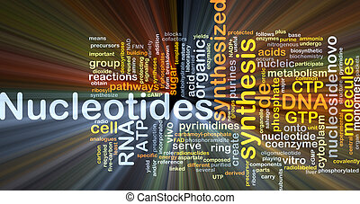 Nucleotides background concept glowing - Background concept...
