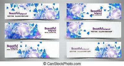 Set of headers abstract