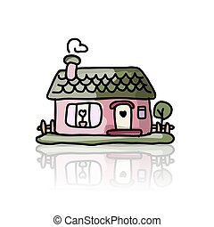 House icon, sketch for your design