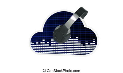 Cloud music concept