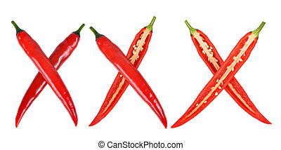 red hot chilli peppers - xxx made from red hot chilli...