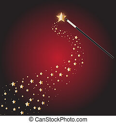 Magic wand with star trails - Magic wand at a magical...