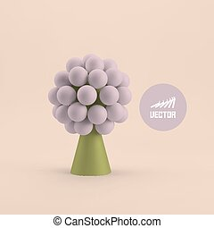Abstract tree. Concept for business, social media, technology.