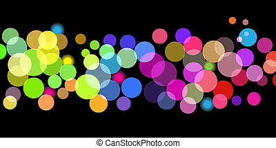 Bright color dots pattern - Illustration of overlapping...