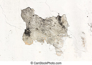 white paint peeling off on wall background
