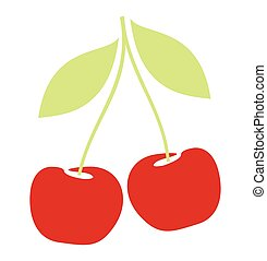 Cherry berries icon