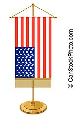 USA table flag isolated on white