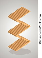 Steps to Success, stair vector, illustration