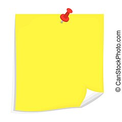 Vector sticky note