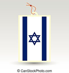 vector simple israeli price tag - symbol of made in israel -...
