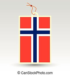 vector simple norwegian price tag - symbol of made in norway...