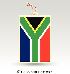 vector simple south african price tag - symbol of made in africa