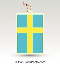 vector simple swedish price tag - symbol of made in sweden -...