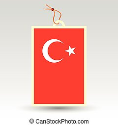 vector simple turkish price tag - symbol of made in turkey -...