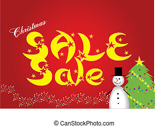 Christmas sale - poster for your commercial announcement...