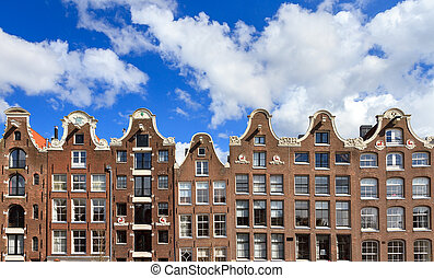 Dutch canal houses - Beautiful dutch canal houses at the...
