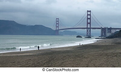 Baker Beach Recreation - Camera floats back and forth...