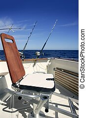 Big game boat wooden fishing chair for tuna wahoo and marlin