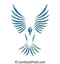 Bird grunge icon