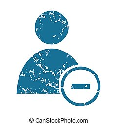 Grunge remove user icon - Grunge blue icon with user symbol...