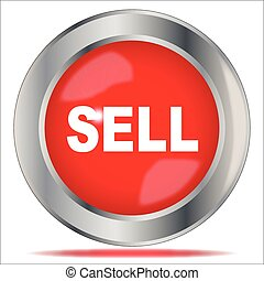 Sell - A large red sell button over a white background