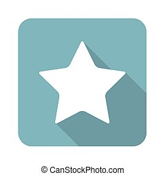 Square star icon - Vector square icon with image of star,...