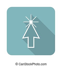 Square arrow cursor icon