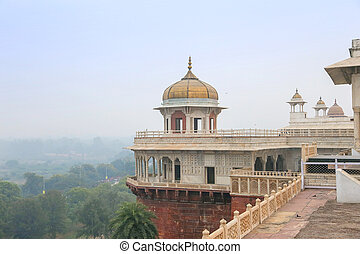 White marble palace, Agra fort, India