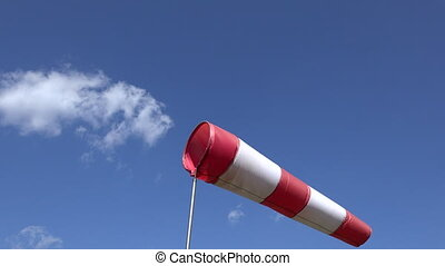air sleeve windsock - Inflated air sleeve windsock show...