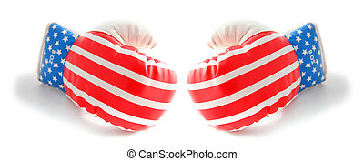 boxing gloves usa stars and stripes flag - boxing gloves...