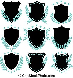 Vintage badges and shield shapes - Vintage vector badges and...