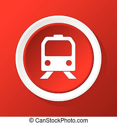Train icon on red