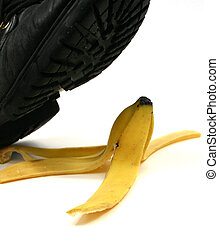 accident banana peel - accident about to happen shoe about...