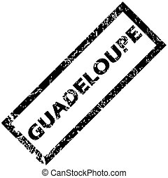 GUADELOUPE rubber stamp - Vector rubber stamp with name...