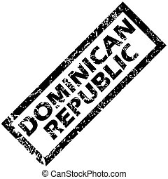 DOMINICAN REPUBLIC rubber stamp - Vector rubber stamp with...
