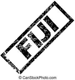 FIJI stamp - Vector rubber stamp with name FIJI, isolated on...