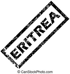 ERITREA stamp - Vector rubber stamp with name ERITREA,...